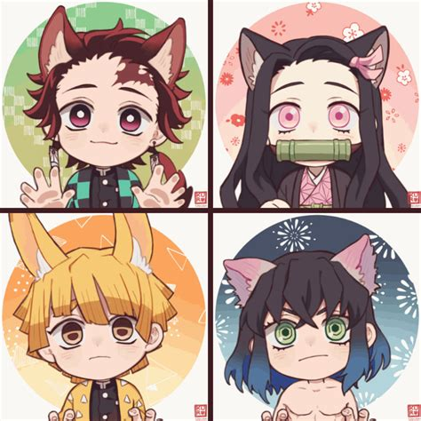 kimetsu  yaiba animation anime chibi anime demon anime