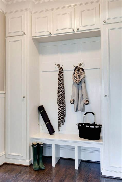 entryway storage bench  wall cubbies woodworking