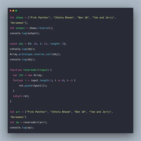 JavaScript Array reverse: How to Reverse Array Items