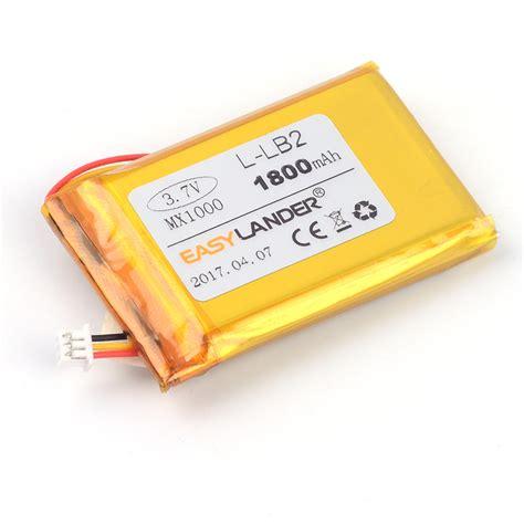 battery l easylander replacement 3 7v 1800mah rechargeable li polymer li ion battery l lb2 for logitech