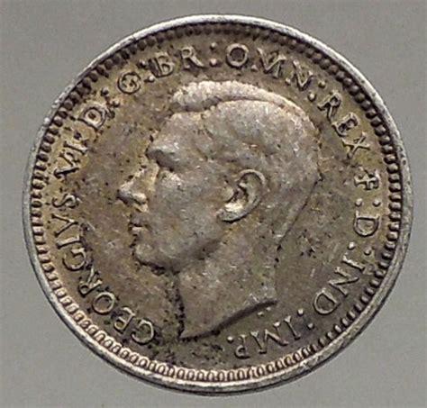 1943 silver wheat 1943 australia threepence silver coin uk king george vi wheat stalks i56804 ebay