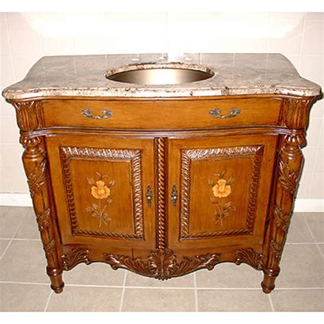 Lanza Singlesink Bathroom Vanity With Brass Sink And