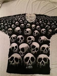 1992 Chris Pinkerton Liquid Blue Skull T