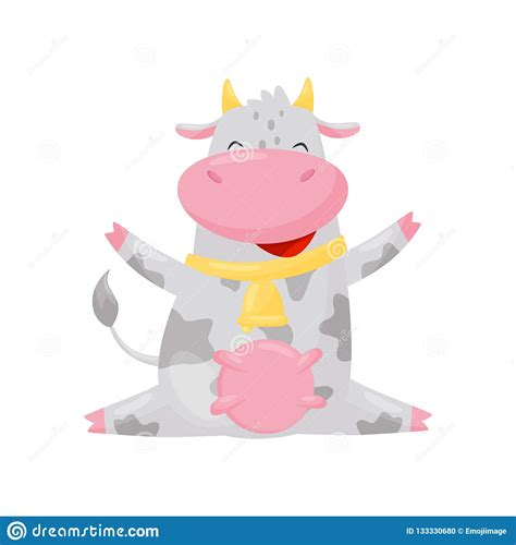 Polish your personal project or design with these farm animals transparent png images, make it even more personalized and more attractive. Happy Smiling Cow, Funny Farm Animal Cartoon Character ...