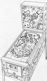 Pinball Machine Drawing Layout Pen Sketch Coloring Template Rough Pencil Artwork Pages Behance Rotring Isograph sketch template