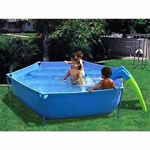 Piscine Hors Sol Plastique : piscine hors sol enfant toboggan ronde x achat ~ Premium-room.com Idées de Décoration