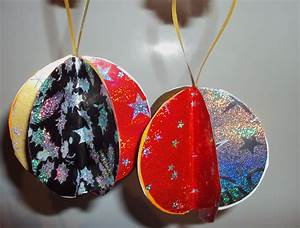 Boule De Noel A Fabriquer : boule de noel en papier avec ~ Nature-et-papiers.com Idées de Décoration