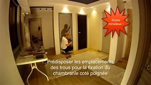 Porte Fin De Chantier Lapeyre : comment poser une porte fin de chantier avec charni res invisibles youtube ~ Nature-et-papiers.com Idées de Décoration