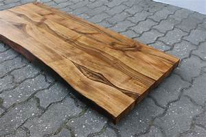 Waschtischplatte Holz Massiv : waschtisch tischplatte platte nussbaum massiv holz mit baumkante neu leimholz ebay ~ Yasmunasinghe.com Haus und Dekorationen