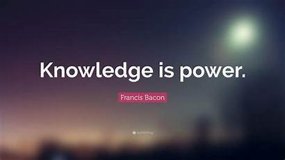 Knowledge Power Quote Wallpapers Bacon Francis Quotefancy