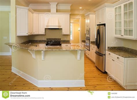 Beautiful Wrap Around Kitchen Stock Photo   Image: 1845280