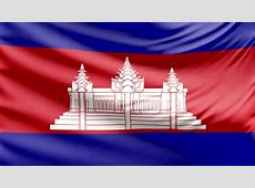 HD Waving Flag Cambodia Stock Footage Video 8255719