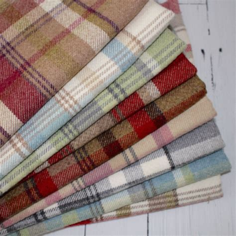 Curtain And Upholstery Fabrics by Wool Touch Tartan Check Interiors Fabric