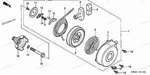 Honda Atv 2003 Oem Parts Diagram For Recoil Starter