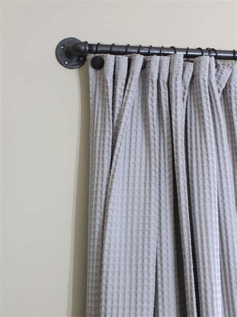 Industrial Looking Curtain Rods easy diy curtain rods chaotically creative