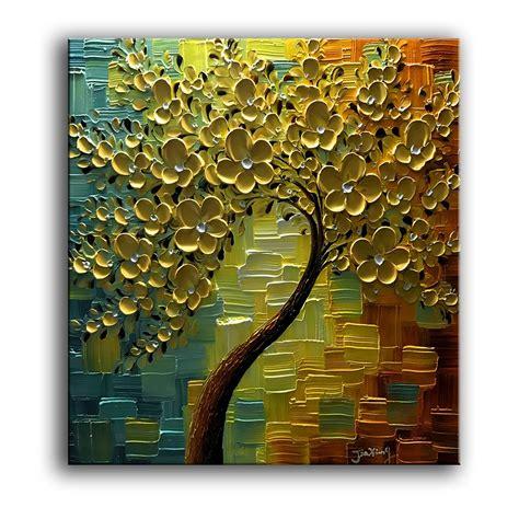 Yasheng Art 3d Oil Paintings On Canvas Golden Flowers