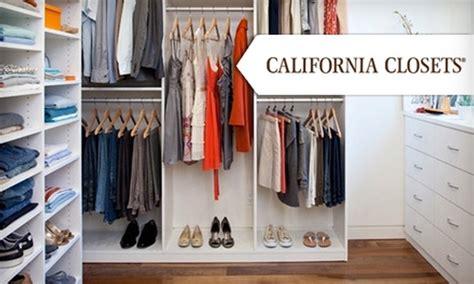 60 a closet system california closets groupon
