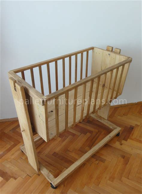 wooden pallet cradle  kids pallet furniture plans