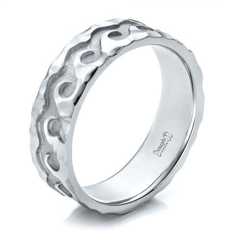 custom men s hammered wave wedding band 100698 seattle bellevue joseph jewelry