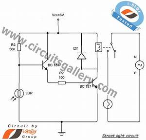 how to make a circuit of automatic street light control With solar led light circuit diagrams