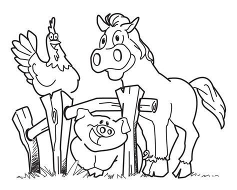 printable farm animal coloring pages  kids farm