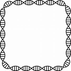 Clipart - DNA Helix Frame 3