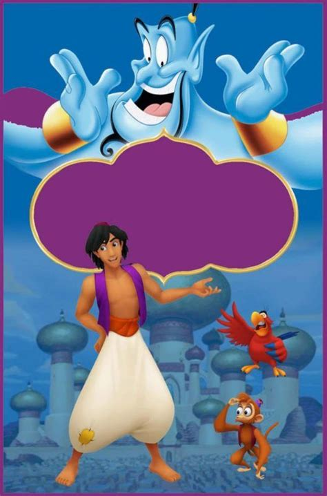 printable aladdin invitation template aladdin
