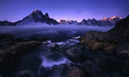 Landscape Desktop Mountain Mountains Snow River Fog