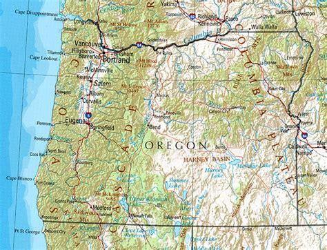 oregon geography  maps