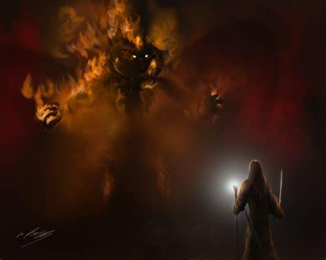 You Shall Not Pass Wallpaper Gandalf Vs Balrog By Gackt En Ciel On Deviantart