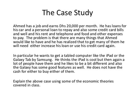 Example Case Study Solution P2 2011