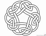 Knot Circle Coloring Pages Celtic Printable Print Adults sketch template