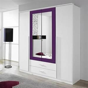 Kleiderschrank 4 Türen : kleiderschrank basti wei lila 4 t ren b 181 cm kleiderschr nke ~ Markanthonyermac.com Haus und Dekorationen