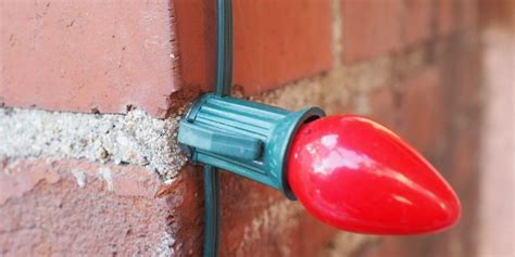how to use glue to fasten lights to brick or
