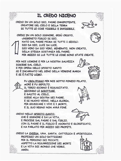 Preghiera Credo Testo by Credo Apostolico Testo 28 Images Preghiera Credo Testo