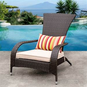 Sundale, Outdoor, Deluxe, Wicker, Adirondack, Chair, Outdoor, Patio, Yard, Furniture, All