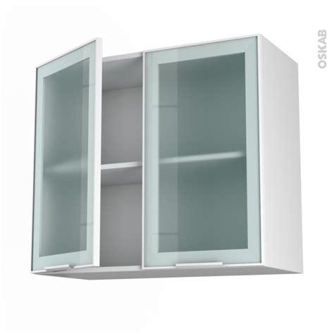 logiciel gratuit cuisine 3d meuble haut ouvrant h70 façade blanche alu vitrée 2 portes