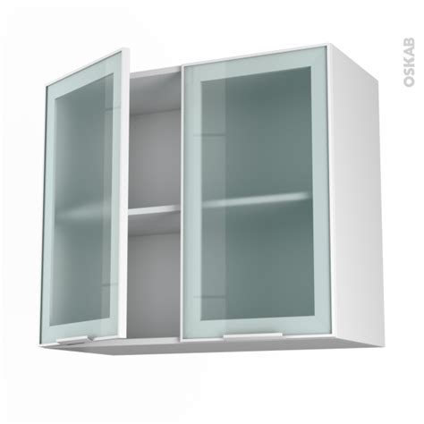 ikea prix pose cuisine meuble haut ouvrant h70 façade blanche alu vitrée 2 portes