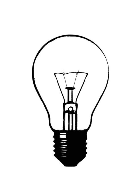 How To Draw A Light Bulb by How To Draw Light Bulb Coloring Pages Object Repeats In