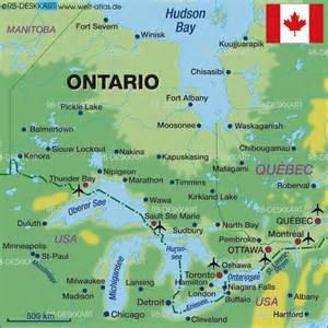 Toronto Ontario Canada Map