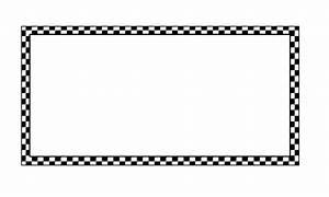 Clipart - worldlabel border BW checkered 4x2