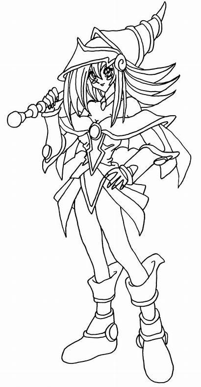 Magician Dark Elfkena Blackwhite Anime Deviantart Lineart
