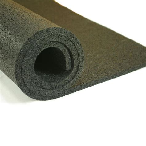 shop nutek 48 in 120 in black lay rubber sheet at lowes com