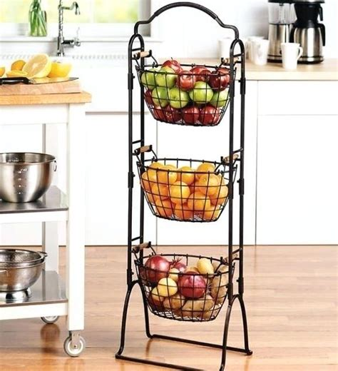3 tier fruit basket 3 tier chrome hanging basket
