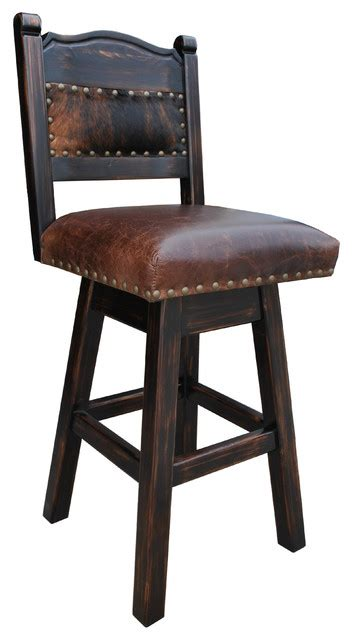 Cowhide Bar Stools Sale - rancho collection hacienda swivel stool cowhide