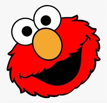 Elmo Face Clipart Sesame Street Transparent Clip