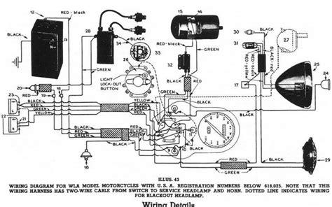 harley davidson wl restoration  wiring  harley