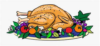 Thanksgiving Clip Clipart Turkey Happy Feast Plate