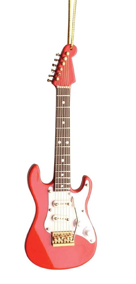 buy red electric guitar christmas ornament music gift