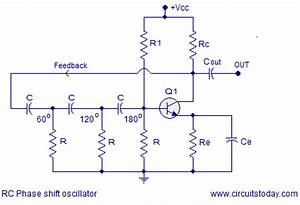 Transistor Phase Shift Oscillator  Rc Phase Shift Network